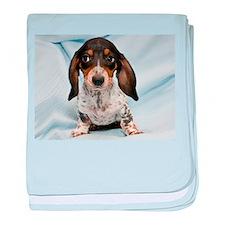 Speckled Puppy baby blanket