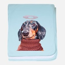 Angel Spotted Doxie baby blanket