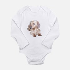 Fawn Wire Haired Long Sleeve Infant Bodysuit