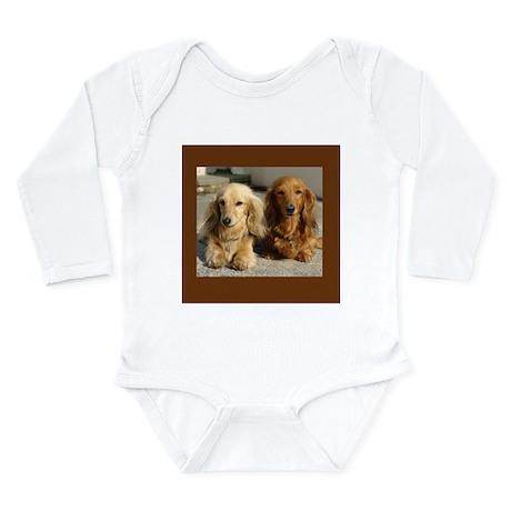 Doxie Pair Long Sleeve Infant Bodysuit