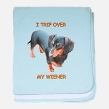 I Trip Wiener baby blanket