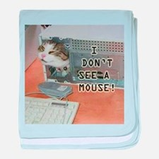 No Mouse baby blanket
