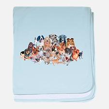 Dog Pile baby blanket