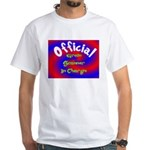 Groin Scanner In Charge White T-Shirt