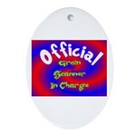Groin Scanner In Charge Ornament (Oval)
