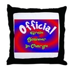 Groin Scanner In Charge Throw Pillow