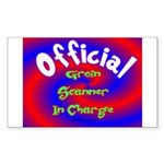 Groin Scanner In Charge Sticker (Rectangle)