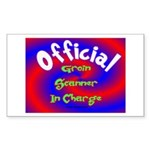 Groin Scanner In Charge Sticker (Rectangle 50 pk)