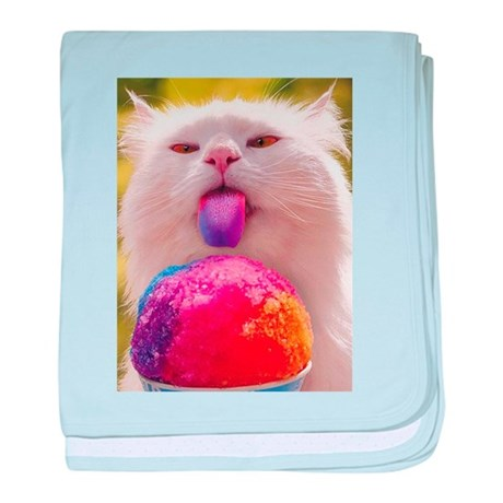 Colorful Kitty baby blanket