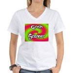 The Groin Scanner Women's V-Neck T-Shirt