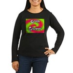 The Groin Scanner Women's Long Sleeve Dark T-Shirt