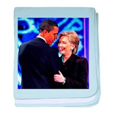 Obama & Clinton baby blanket