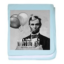 Lincoln's Birthday baby blanket