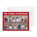 Twelve Buns of Christmas Greeting Card