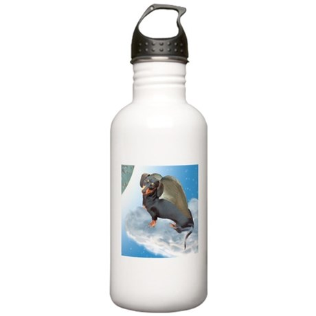 Angel Dachshund Dogs Stainless Water Bottle 1.0L