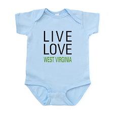 Live Love West Virginia Infant Bodysuit