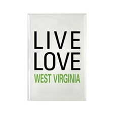 Live Love West Virginia Rectangle Magnet