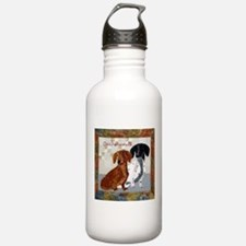Quilted Dachshunds Water Bottle