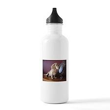 Cream Doxie Water Bottle