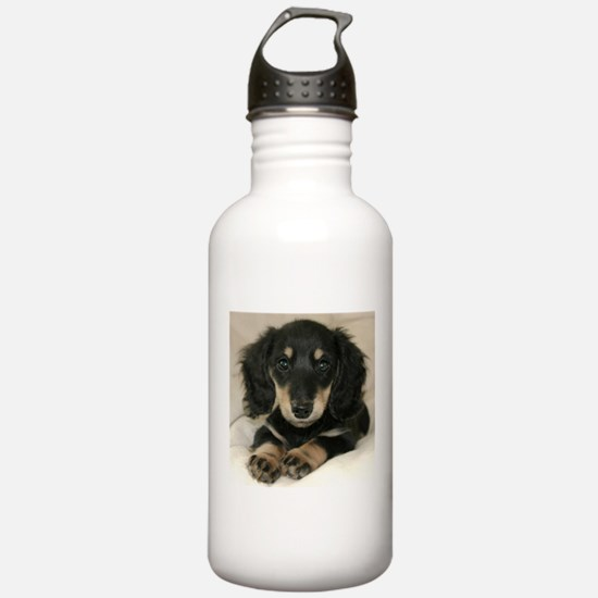 Long Haired Puppy Water Bottle