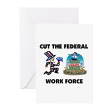 CUT THEIR PAY Greeting Cards (Pk of 10)