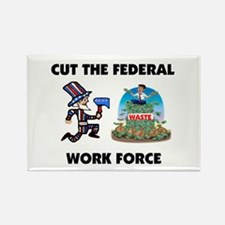 CUT THEIR PAY Rectangle Magnet (100 pack)