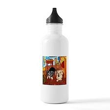 Double Dachshunds Van Gogh Water Bottle