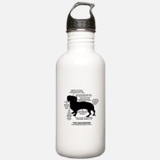 Dachshund Chart Water Bottle
