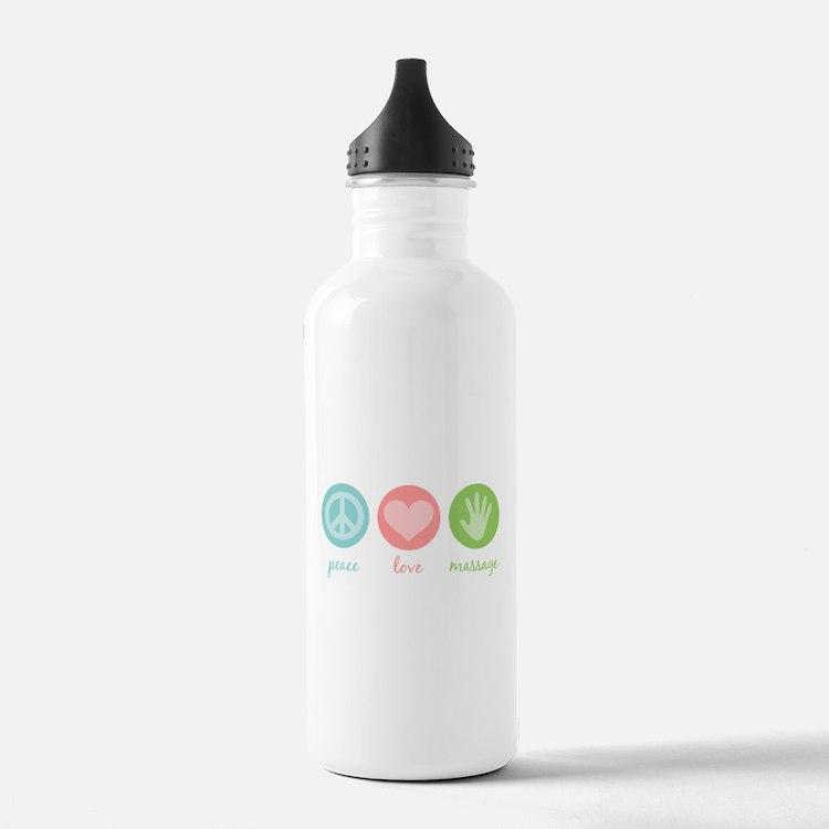 Peace, Love & Massage Water Bottle