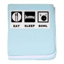 Eat Sleep Bowl baby blanket