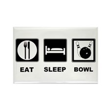 Eat Sleep Bowl Rectangle Magnet