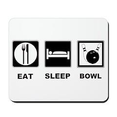 Eat Sleep Bowl Mousepad