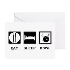 Eat Sleep Bowl Greeting Cards (Pk of 20)