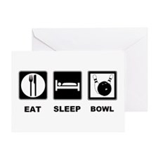 Eat Sleep Bowl Greeting Card