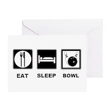 Eat Sleep Bowl Greeting Card