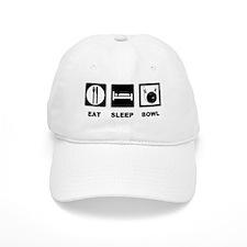 Eat Sleep Bowl Baseball Cap
