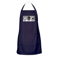 Eat Sleep Bowl Apron (dark)