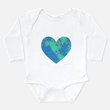 Earth Heart Long Sleeve Infant Bodysuit