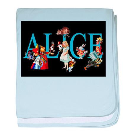 Alice in Black baby blanket