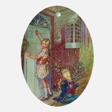 ALICE & FROG Ornament (Oval)