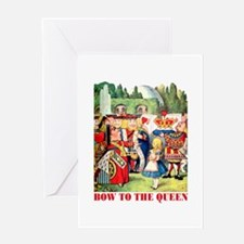 BOW TO THE QUEEN Greeting Card