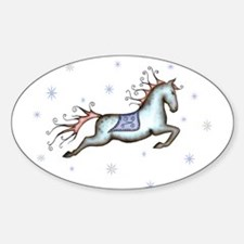 Starry Sky Horse Oval Decal