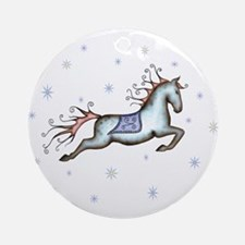 Starry Sky Horse Ornament (Round)
