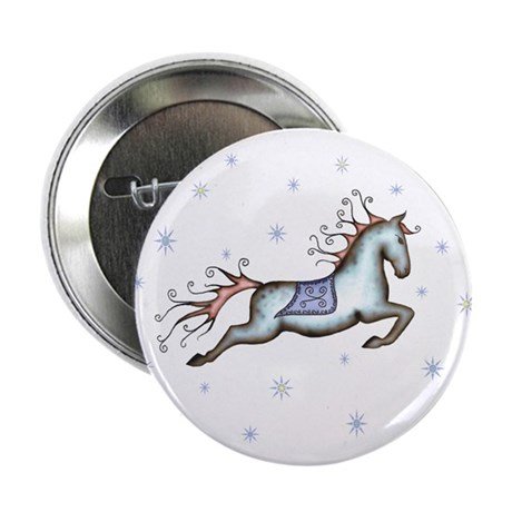 """Starry Sky Horse 2.25"""" Button (10 pack)"""