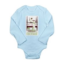 There's No Place Like Home Long Sleeve Infant Body