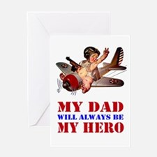 MY DAD IS MY HERO Greeting Card
