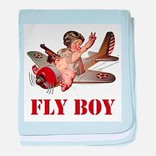FLY BOY baby blanket