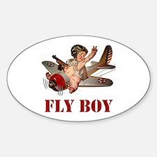FLY BOY Sticker (Oval)