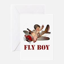 FLY BOY Greeting Card