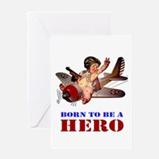 BORN TO BE A HERO Greeting Card